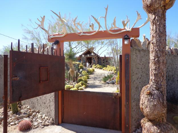 Desert Garden Gate with Antlers
