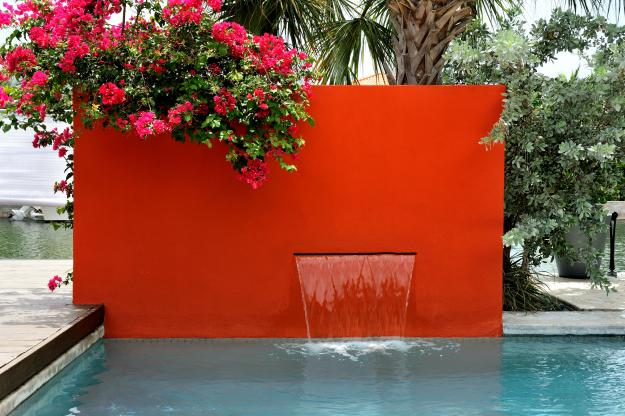 Red Fountain Wall