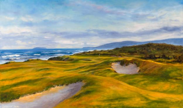 Cabot Links Oil Painting