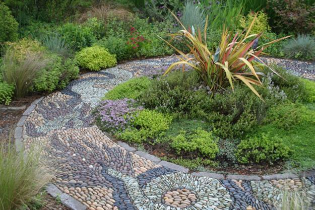 Pebble Mosaic Walkways Garden Design