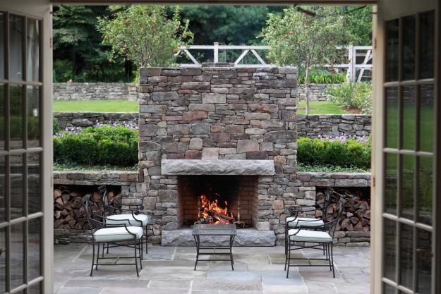 Stone Outdoor Fireplace - APLD Awards