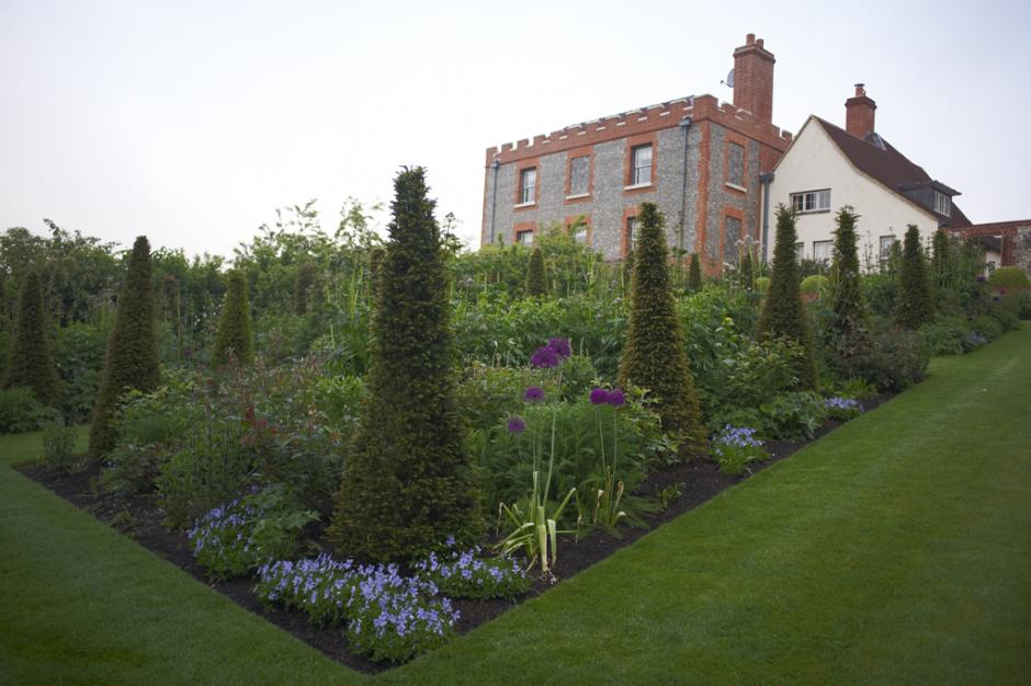 Chalkland Farm rose garden