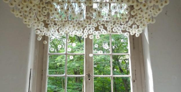 Art & Botany: 2,000 Dandelions Suspended from a Ceiling