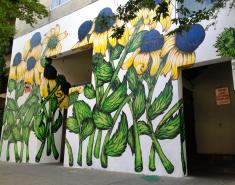 Q&A with a Botanical Muralist
