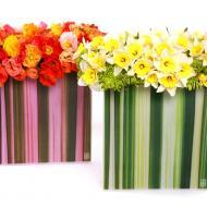 Floral Art Flax Leaf Vases