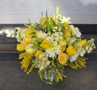 finished yellow bouquet