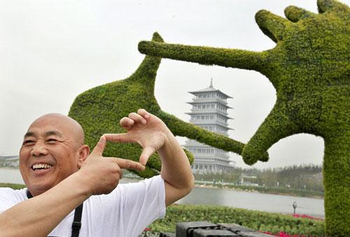 Topiary tourist